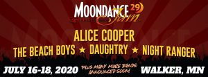 Moondance Jam 29 rock and classic rock festival held July 16-18, 2020