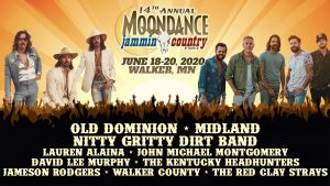 The 14th Annual Moondance Jammin Country Fest music festival on June 18-20, 2020