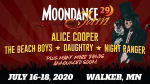 Moondance Jam 29 rock and classic rock festival held July 16-18, 2020